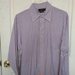 Purple/White Lauren Ralph Lauren Long-Sleeve Shirt
